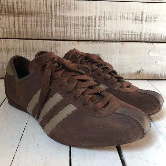 5b308f046935b7 adidas Shoes - Adidas Brown Sneakers